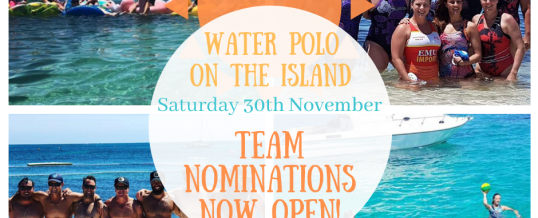 Team Nominations Open! – Water Polo on the Island