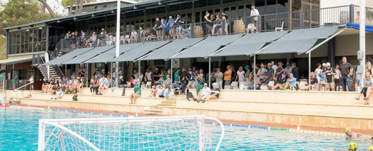 Huge day/night of water polo at Bicton Pool
